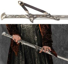 Thranduil's sword scabbard Game Of Thrones Costumes, Game Costumes, Thranduil, United Cutlery, Elf Art, Old Comics, Fantasy Weapons, Katana, Lord Of The Rings