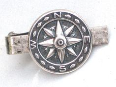 Steampunk ENCHANTED COMPASS - Men's Tie Bar Clip - Antique Silver - By GlazedBlackCherry. $19.99, via Etsy.