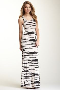 Print Racerback Maxi Dress by Go Couture on @HauteLook