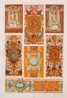 Renaissance Decorative Ornament Cartouches & by PaperPopinjay