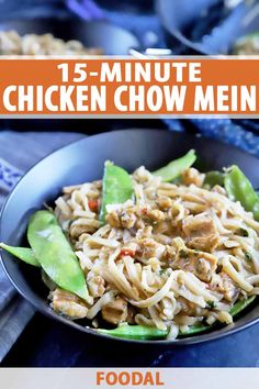 This chicken chow mein is just like the dish you'd get from your favorite Chinese restaurant, and you can make it in 15 minutes. Get the recipe on Foodal. Easy Chicken Recipes, Easy Dinner Recipes, Easy Dinners, Turkey Recipes, Easy Recipes, Chicken Chow Mein, Healthy Recipes On A Budget, Sauteed Vegetables, Hoisin Sauce
