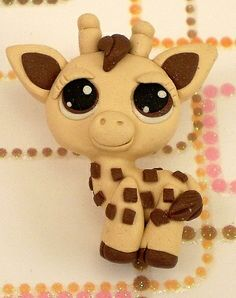 Pet Shop Baby Giraffe Littlest Charm Polymer Clay Beads