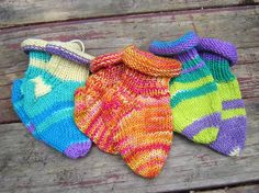 Rolled Top Merino Baby Sox by theKnitChix on Etsy, $18.00
