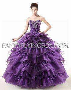 9f935faac72 Elegant Strapless Purple Quince Dress 2016