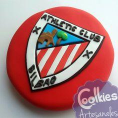 Tarta del escudo d Athletic de Bilbao. Coolkies