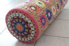 crochet granny squares   granny circle square bolster   Crochet