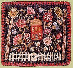 Primitive Spirit Rug Hooking Patterns by Karen Kahle-Patterns and Kits Vintage Rugs, Vintage Colors, Art Mat, Rug Hooking Patterns, Hand Hooked Rugs, Karen, Penny Rugs, Traditional Rugs, Felt Hearts
