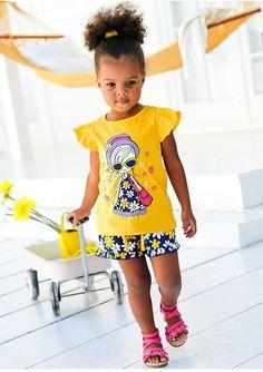 Casual Meisjes kleding Karakter Girl's T-shirt met Korte Broek