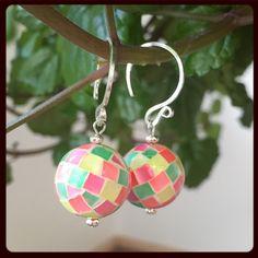 Mosaic Hammershell Earrings - Handmade!!