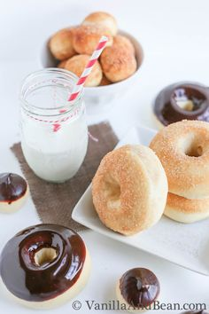 These Vanilla Bean and Buttermilk Baked Doughnuts will delight even the most discriminating doughnut connoisseur. Served fresh and warm, these doughnuts are sure to please.