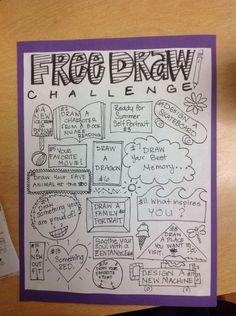 Art sub plans - Around the classroom… – Art sub plans Art Sub Plans, Art Lesson Plans, Drawing Challenge, Art Challenge, Middle School Art, Art School, Documents D'art, Art Doodle, Classe D'art