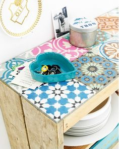 Tutti pazzi per gli #azulejos (io di sicuro)   Le piastrelle in ceramica portoghesi per il #bagno [Coloured portuguese tiles]
