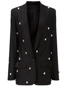 Black Diamante Bling Soho Jacket Racil