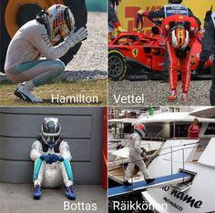 Well done, Kimi. Funny Car Quotes, Funny Memes, Jokes, Lewis Hamilton Formula 1, Ferrari F12berlinetta, F1 Motorsport, Mclaren Cars, Formula 1 Car, F1 Drivers