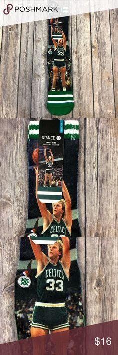 Stance Socks Larry Bird Celtics Large L NBA Boston Stance Socks  NBA Legends Collection  Size L/XL (9-13)  Larry Bird  Celtics  190107001502 Stance Underwear & Socks Athletic Socks