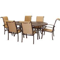 Hanover Kerrington Outdoor 7 Piece Dining Set