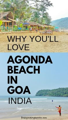 Best things to do in Agonda Beach, South Goa, India. Best Agonda beach huts. Surfing in Goa. Outside of rain monsoon season away from crowds of North Goa beaches. Near places to visit in Goa: Palolem, Cabo de Rama Fort, Dudhsagar falls waterfalls, one day trip with scooter rental. Plan first trip to India to outdoor travel destinations on best South Goa beaches, South Asia backpacking itinerary with tips. Flight to Mumbai, Goa airport, Cochin Kerala in South India for international travel.
