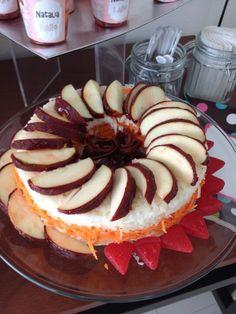 Rosca de jícama y manzanas con tamarindo