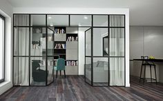glass wall#office home#