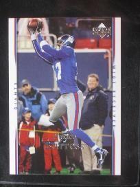 2007 Upper Deck Plaxico Burress #124 (Giants)