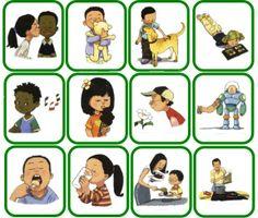 werkwoorden + object, VERBOS + Object Speech Pathology, Speech Language Therapy, Speech Therapy Activities, Speech And Language, Toddler Activities, Storytelling Books, Learn Greek, Classroom Games, Motivational Cards