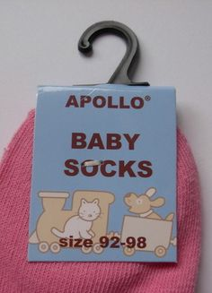 "Wunderschöne Baby-Söckchen rosa Gr 92-98 "" I love Mama"" Apollo 3"
