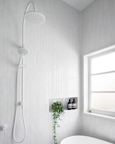 "2,969 Likes, 33 Comments - Scandinavian Lifestyling (@simple.form) on Instagram: ""•• A White out BATHROOM with three twists from our traditional. Vertical tiles, White window frames…"""
