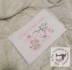 CHRISTENING GIFT PRINCESS RIBBON TAGGY COMFORTER PERSONALISED  BLANKET