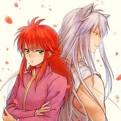 Kurama and Yoko Kurama. Manga Anime, Anime Art, Hot Anime Guys, Anime Love, Yu Yu Hakusho Anime, New People, Yoshihiro Togashi, Bishounen, Yuyu Hakusho