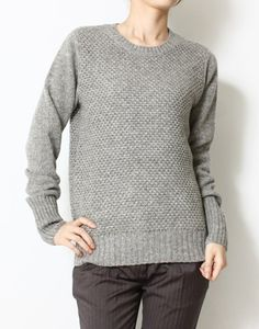 HYKE Patterned crew neck knit