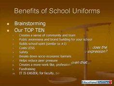 Do uniforms make schools better essay