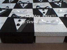 Lembranças para casamentos caixas para padrinhos e madrinhas.