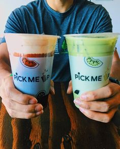 #Repost @ piecefulldiet I love thai tea! Here we have sea salt Thai tea and green Thai milk tea! Both were tasty! #pickmeupteahouse #tea #milk #boba #la #oc #green #thai #drink #asian #oc #la #lb #orangecounty #tasty #good #yum #bubble #tea #food #foodnetwork #foodie #foodporn #follow