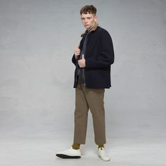 Lightweight coat in pure virgin wool cloth - #GoldenGoose #GGDB #fashion
