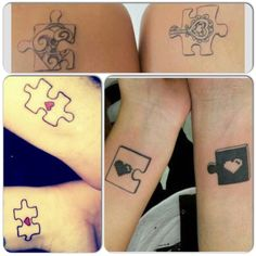 Puzzle couples tattoo ideas.