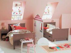 Huisjes in de kinderkamer. Voor meer kinderkamer inspiratie kijk ook eens op http://www.wonenonline.nl/slaapkamers/kinderkamer/