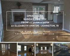 Rhode Island Real Estate Johnston Open House Beautiful brick colonial with shining hardwood floors, granite kitchen, and a tile stand up shower that feels like you've escaped to a spa! Get an exclusive look at the open house!