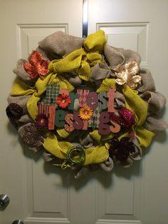 Fall wreath I made. Super easy and fun to do!