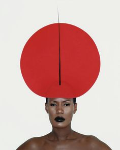 grace jones wearing philip treacy, by kevin davies london 1998
