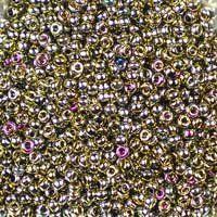 Miyuki 11/0 (2mm) California Blooming Meadow glass seed beads, colour number 55070, shiny metallic silver, pink and aqua. UK seller.