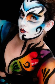 circ du soleil clown makeup - Google Search