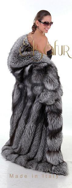 Norwegian Silver Fox Fur, from Elsa Fur of Italy.