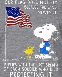 American Flag with Snoopy and Woodstock Charlie Brown Und Snoopy, Charlie Brown Quotes, Peanuts Quotes, Snoopy Quotes, Peanuts Cartoon, Peanuts Snoopy, Snoopy Und Woodstock, Snoopy Pictures, Snoopy Images