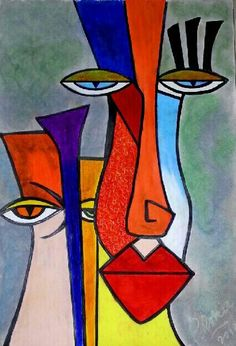 Pablo Picasso – Keep up with the times. Picasso Art, Pablo Picasso, Abstract Face Art, Cubist Art, Modern Art Paintings, Arte Pop, Art Abstrait, Minimalist Art, African Art