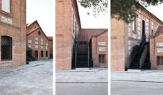 MCVR ARQUITECTOS · Emergency staircase in a 19th century school building.