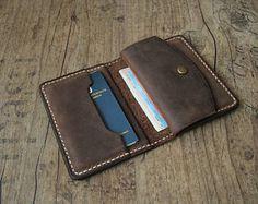 5337d165d Carpeta de billetera de cuero cartera para hombre con monedero marrón  Billeteros Mujer, Carteras Hombre