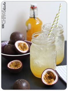 Passionsfrucht Maracuja Orangen Sirup
