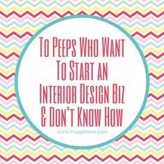 Start an Interior Decorating Business - Mupplebee Graphic & Wordpress Website Design