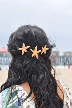 Three Shimmery Sugar Starfish Bobby Pins par ShootingWithSlinky, $28,99