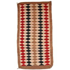 """Antique American-Indian Navajo Rug - 3'6"""" x 5'10"""" ($1,760) ❤ liked on Polyvore featuring home, rugs, handmade wool rugs, navajo wool rug, handmade rugs, wool rugs and navajo style rugs"""